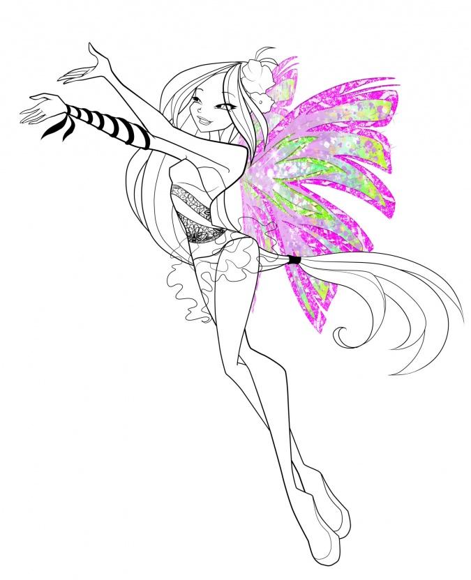 Раскраска винкс блумикс онлайн - 43