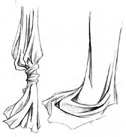 Урок рисования одежды и складок