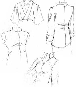 остальные иллюстрации к уроку по рисованию одежды.  Егор Семянистый.