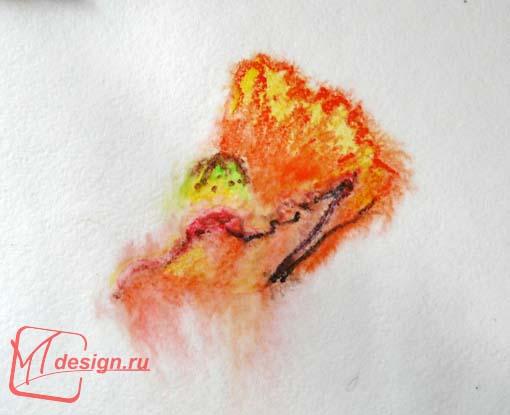 Урок рисования акварельными карандашами: весенние маки