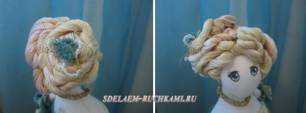 Как сделать волосы тряпичной кукле своими руками