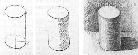 Как правильно рисовать геометрические фигуры с тенью
