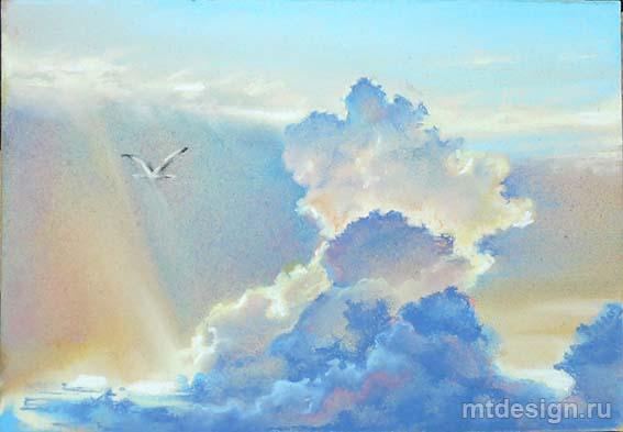 рисунок облака кучевые облака