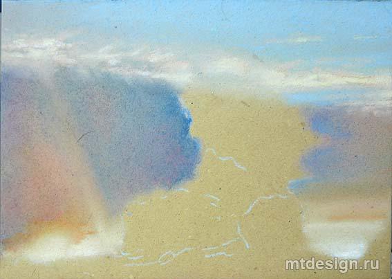 Урок рисования неба пастелью