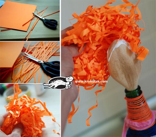 Как сделать из бумаги ложку для куклы