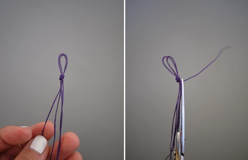Легкие браслеты из ниток