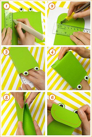 آموزش ساخت صندوقچه مقوایی Frog Party Favor Bags - Mr Printables
