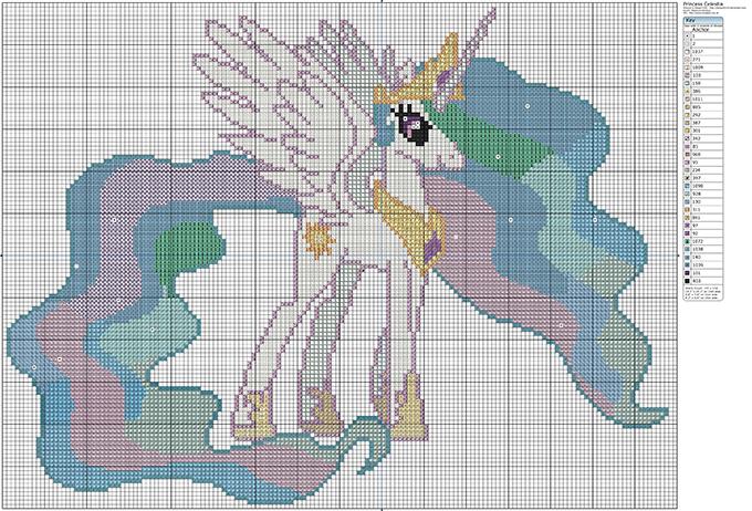 Схема для вышивки принцессы