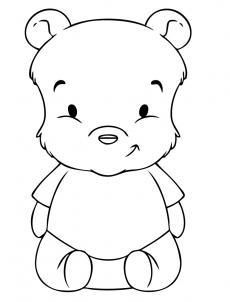 Урок рисования: Рисуем маленького Винни-Пуха