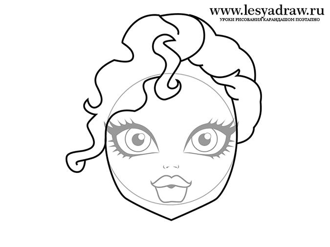 Урок рисования Монстр Хай: рисуем Лагуну Блю