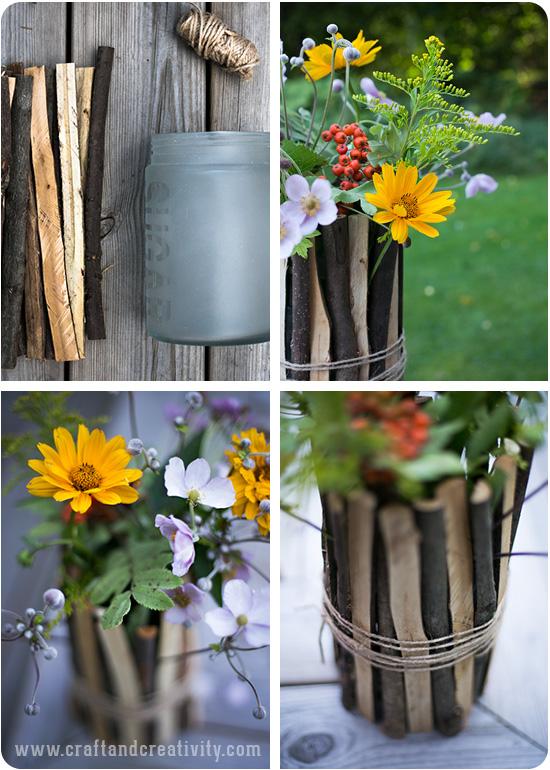Простая ваза для цветов своими руками