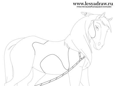 Спирит Душа Прерий: Урок рисования лошади Грозы