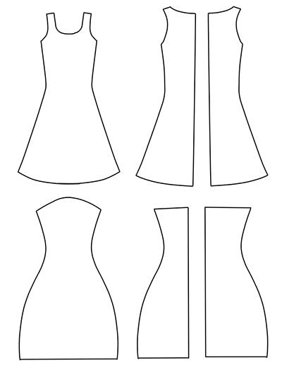 Выкройка двух платьев для кукол Монстр Хай