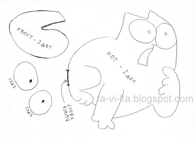 Поделки: игрушка Кот Саймона своими руками - YouLoveIt.ru