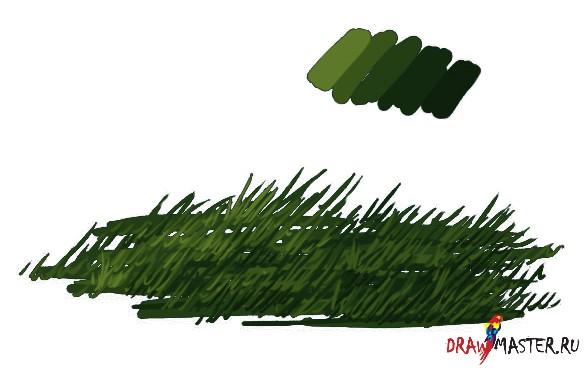 Урок рисования травы в фотошопе