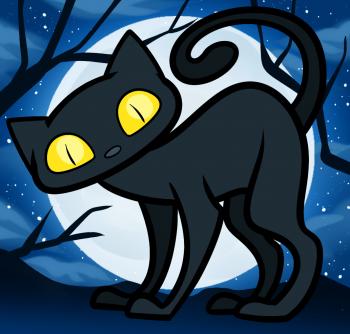Рисуем кошку на Хэллоуин