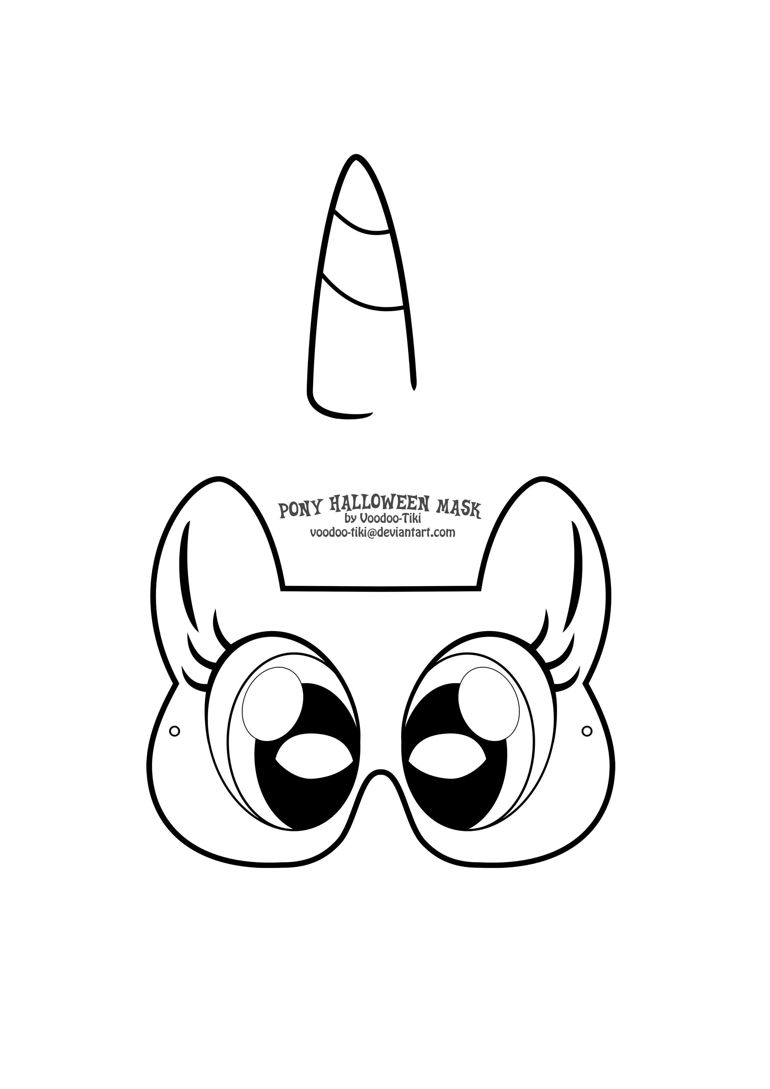Как сделать для пони маску 615