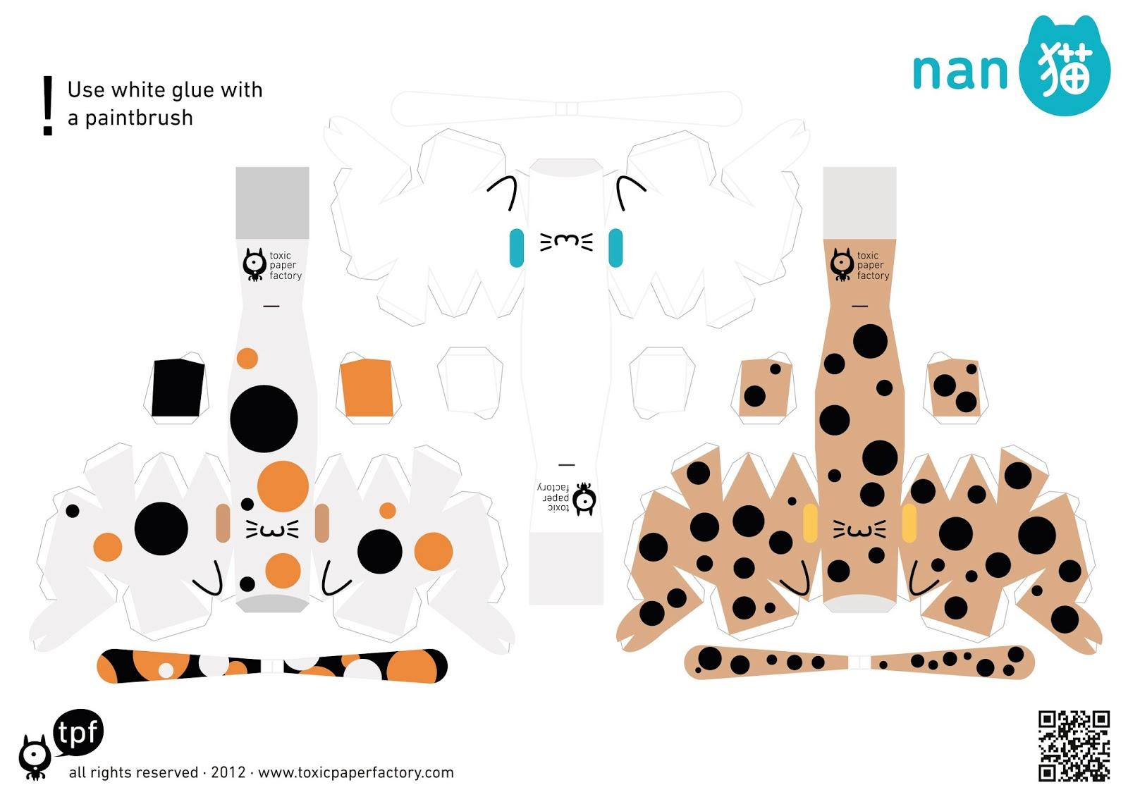 Котенок из бумаги своими руками схемы шаблоны для детей