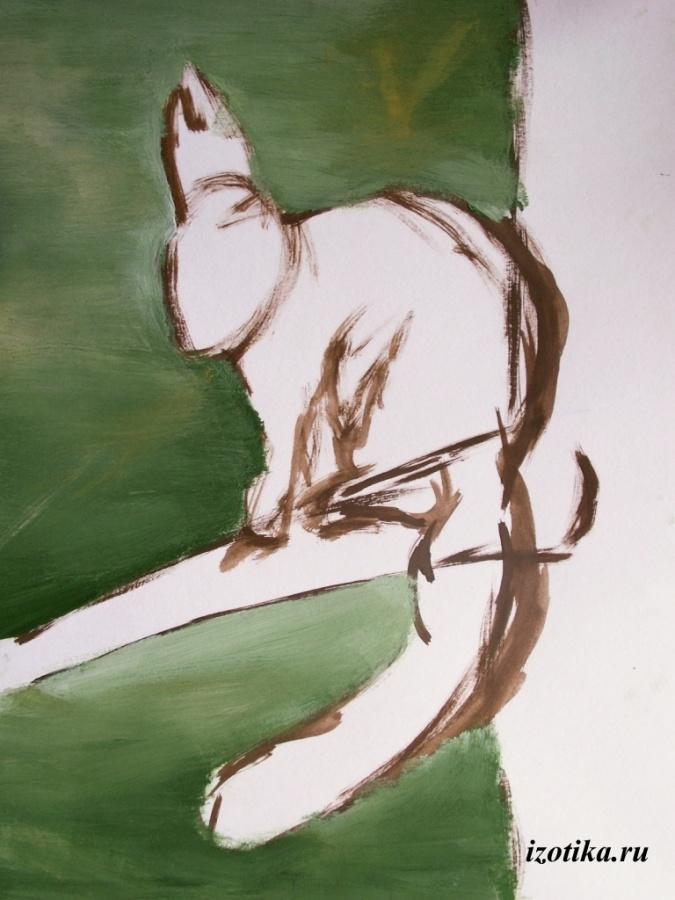 Как нарисовать белку гуашью