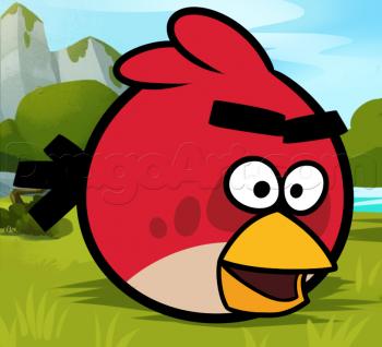 Рисуем красную птичку Angry Birds