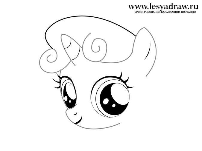 Волосы для пони без фона - e