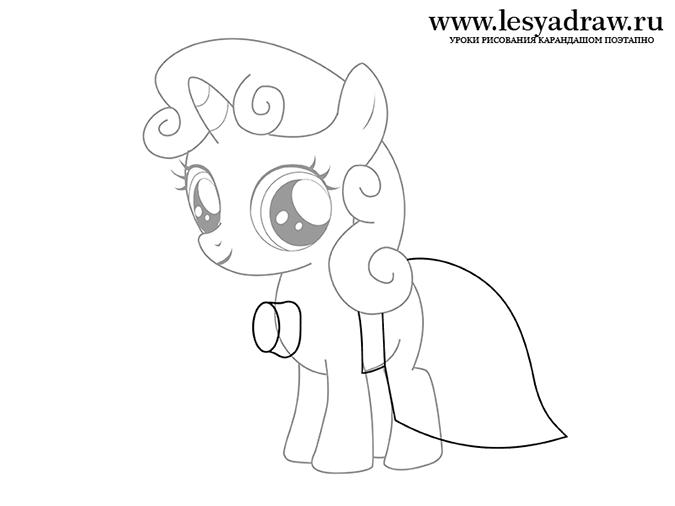 Как рисовать пони свити бель