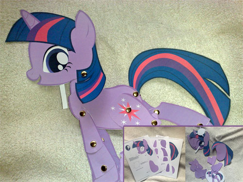 Как сделать из бумаги искорку пони