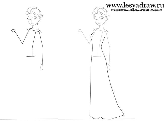 Как нарисовать принцессу Эльзу