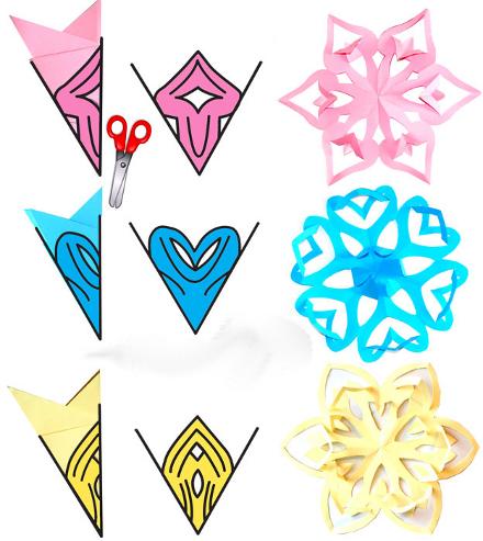 Поделки из бумаги снежинки оригинальные