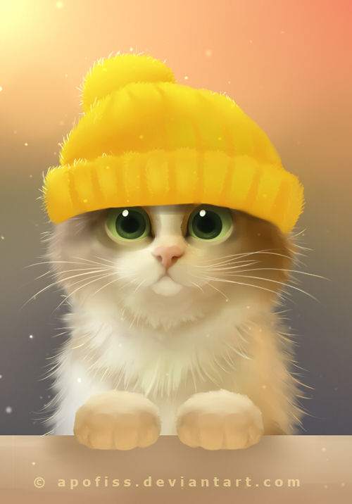 картинки кошек рисунки
