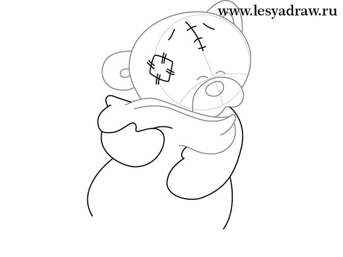 Как рисовать мишек Тедди