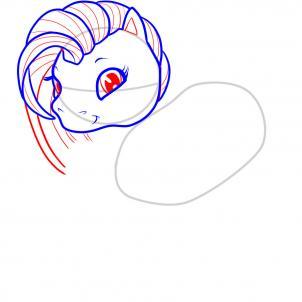 Рисуем очаровательную лошадку - символ 2014 года