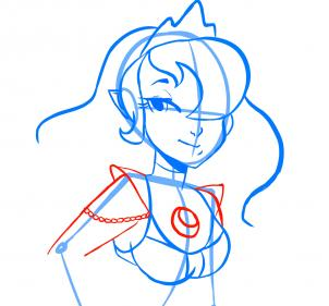 Рисуем принцессу Луну в облике девушки