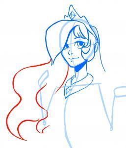 Как рисовать принцессу Селестию в облике девушки