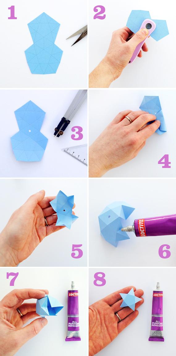 Как из бумаги сделать маленькую звезду 568