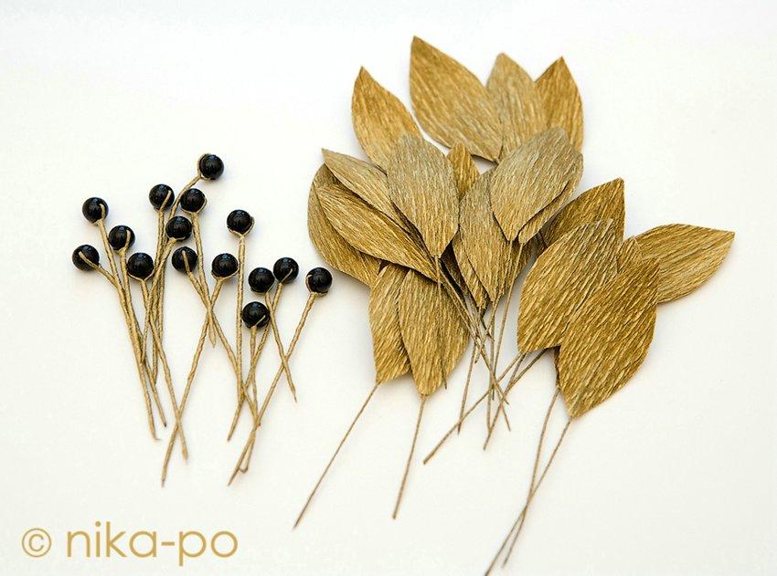 Лавровые листья из бумаги своими руками