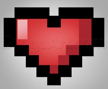 Как нарисовать пиксельное сердечко