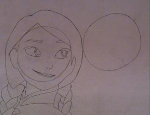 Простой урок рисования Анны и Эльзы