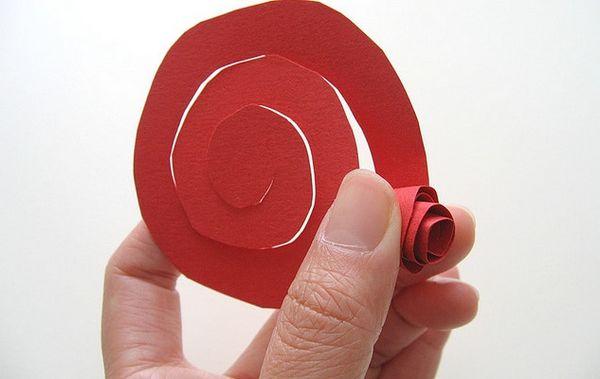 Поделки из бумаги розу своими руками