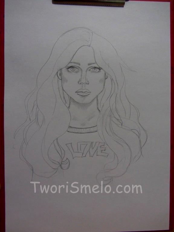 Как нарисовать женские волосы цветными карандашами