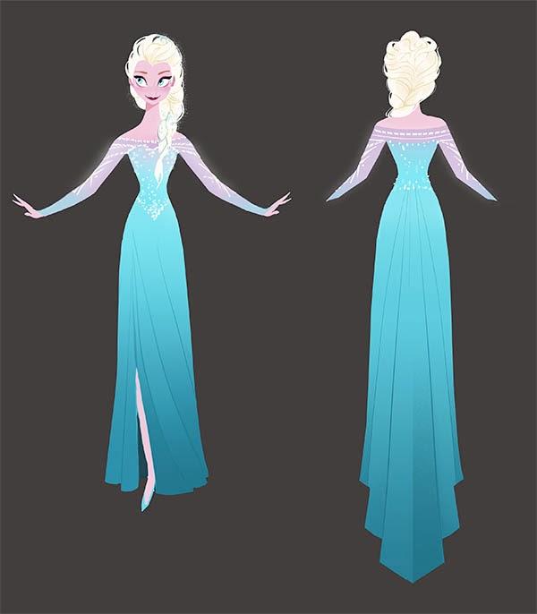 Холодное сердце как сделать платье эльзы из холодного сердца