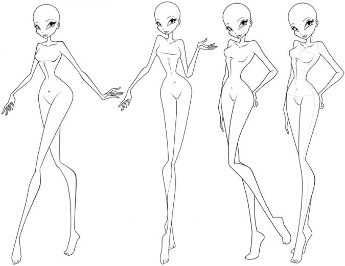 Винкс как рисовать с телом