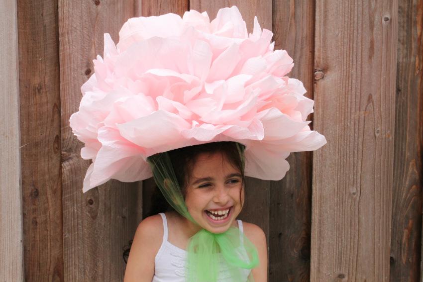 цветок-шапка из бумаги своими руками
