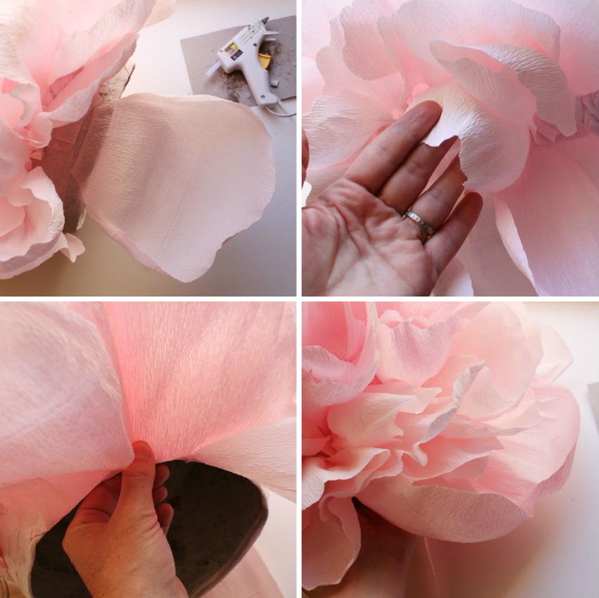 Пионы из бумаги своими руками пошаговая инструкция