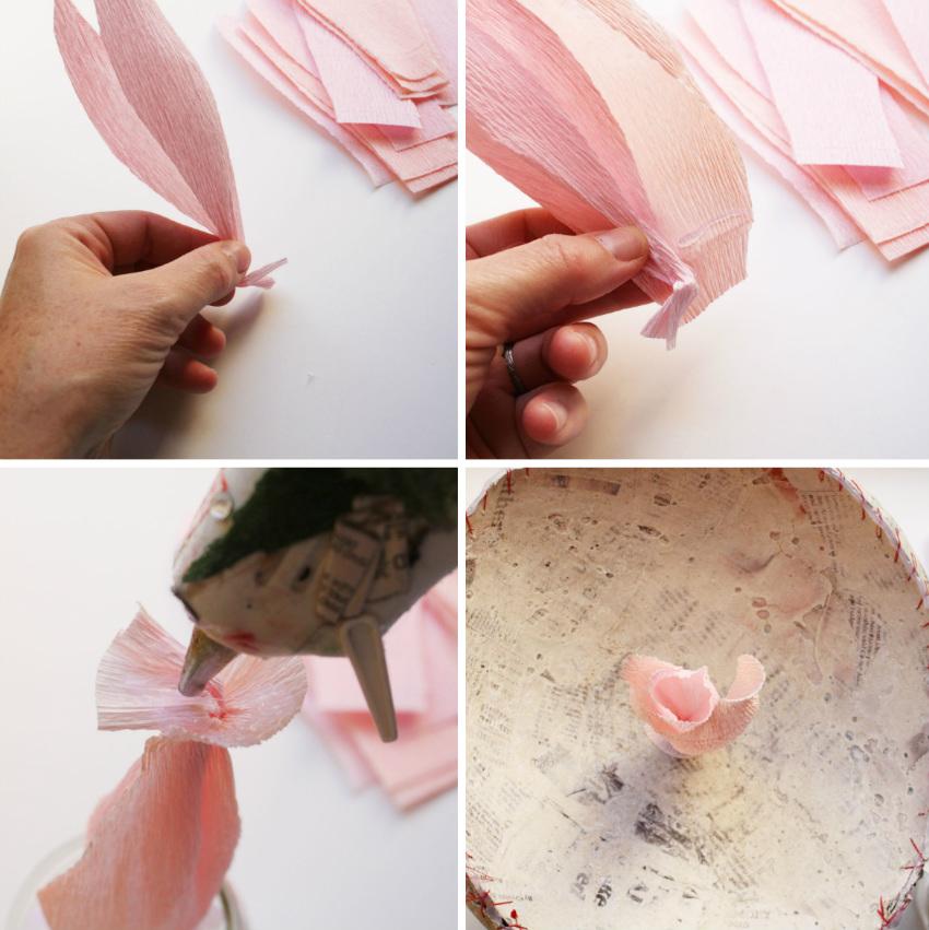 Как сделать большой пион из бумаги своими руками 955