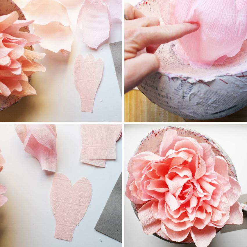 Как сделать огромный цветок из гофрированной бумаги фото 998