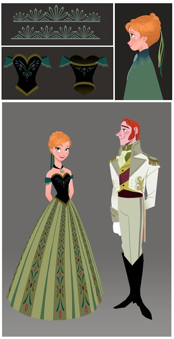 Холодное Сердце: Дизайн костюмов героев