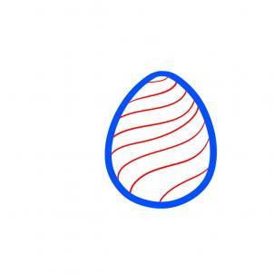 Как рисовать пасхальные яйца