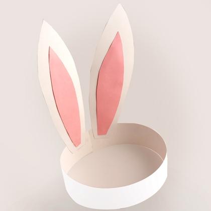 Как сделать ушки кролика из бумаги