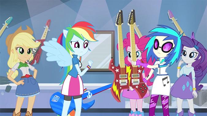 девочки эквестрии радужный рок игры